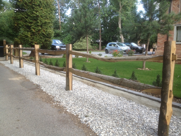 Split Chestnut post and rail